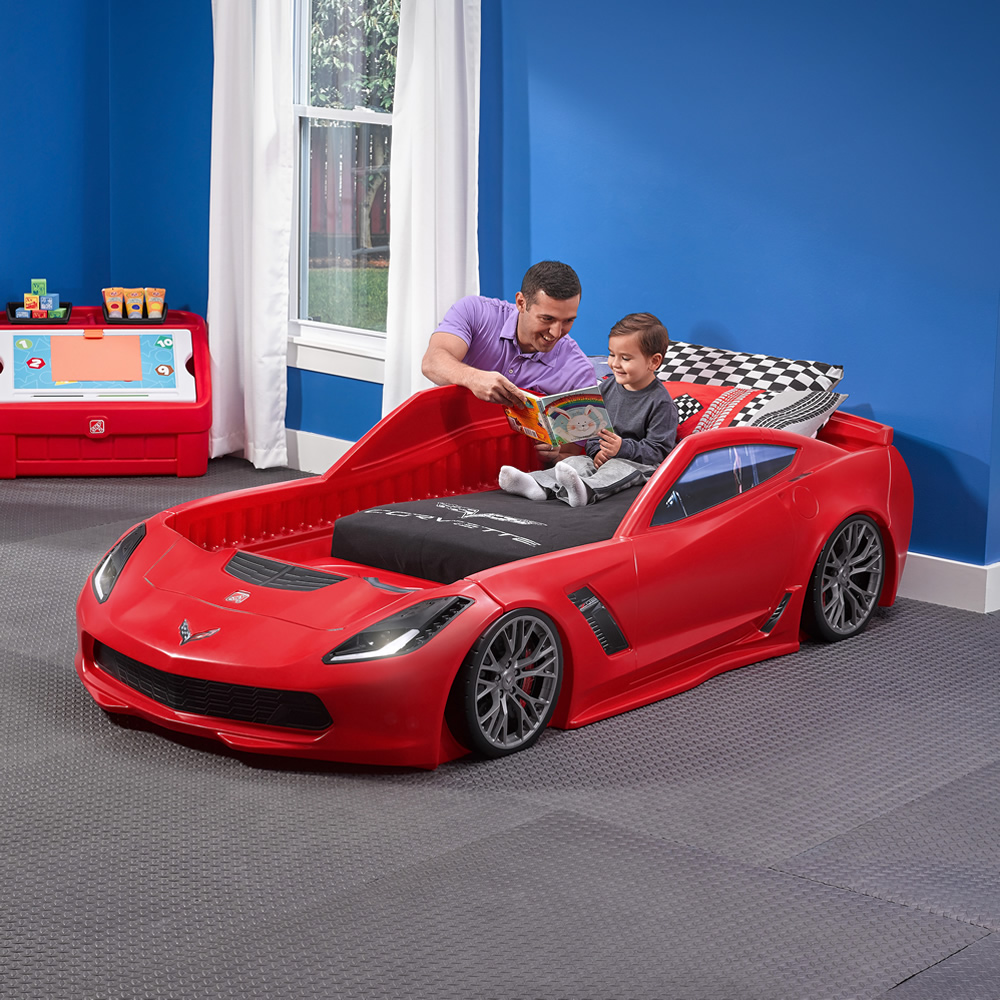 corvette z06 toddler to twin bed kids bed step2corvette® z06 toddler to twin bed™