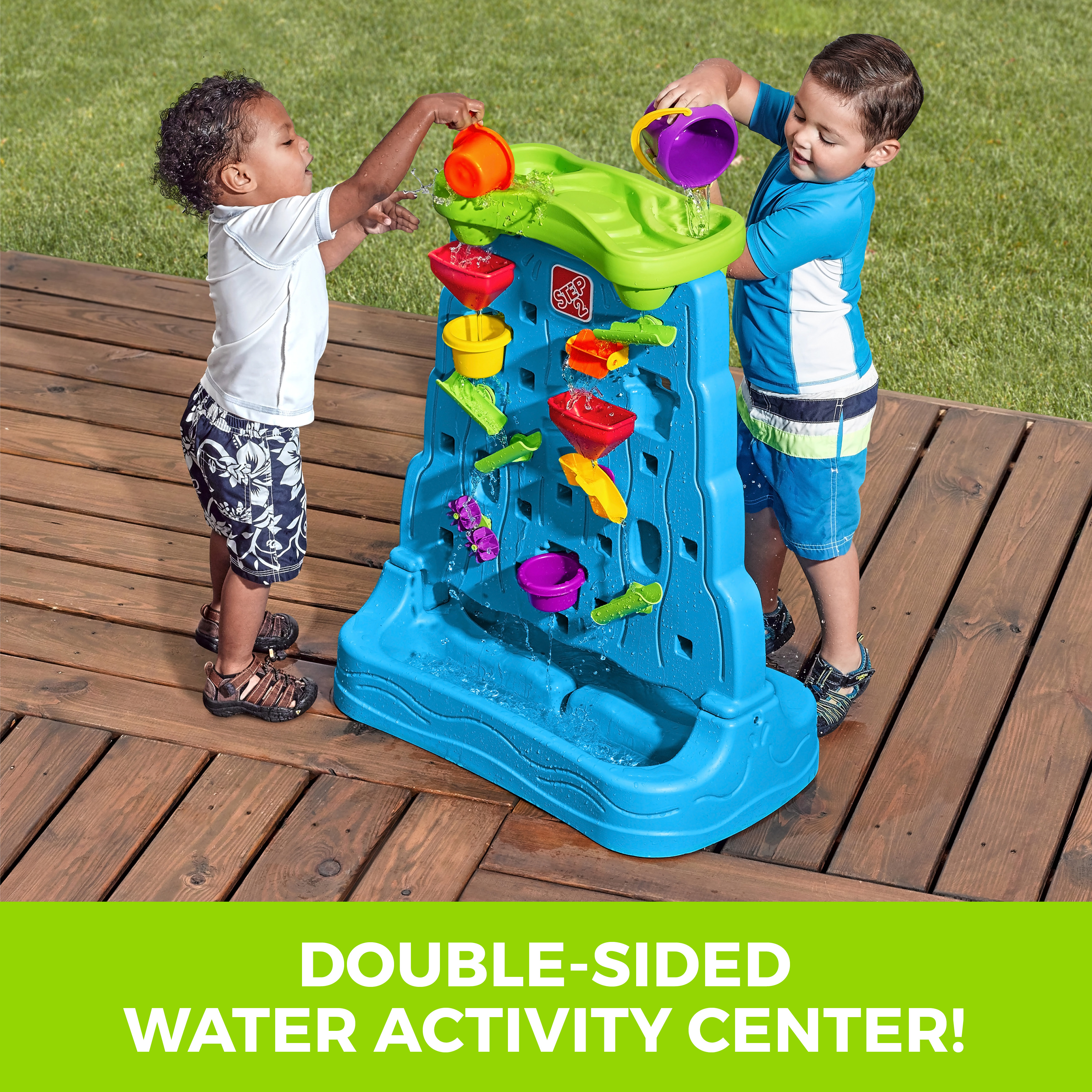 Step2 Waterfall Discovery Wall Two-Sided Play