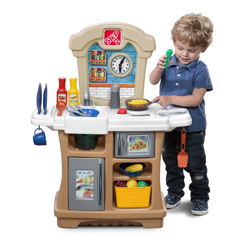 little cooks kitchen  tan  kids play kitchen  step2