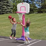 Step2 Shootin' Hoops Junior 42 Inch Basketball Set - Pink outdoors