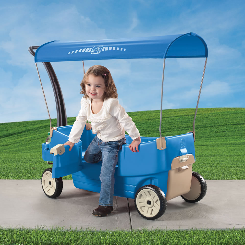 Step2 All Around Canopy Wagon Blue door