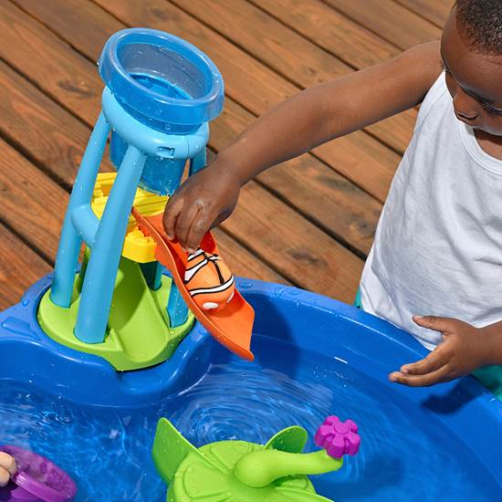 Step2 Finding Dory Whirlin' Waves Water Table water slide