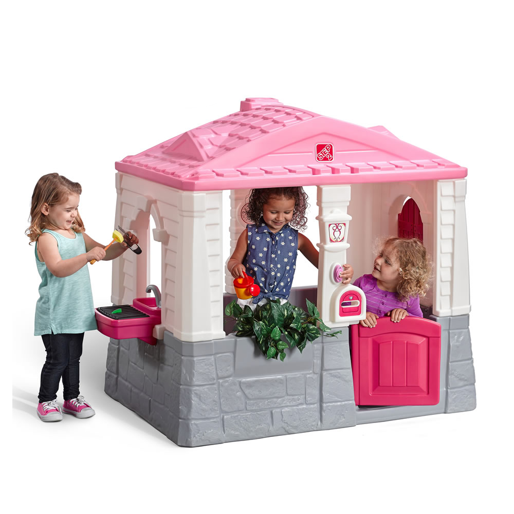 happy home cottage grill pink kids playhouse step2 rh step2 com step 2 tidy cottage pink step 2 tidy cottage playhouse pink