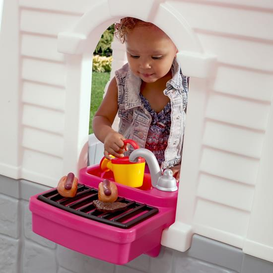 Step2 Happy Home Cottage & Grill Pink grill and sink