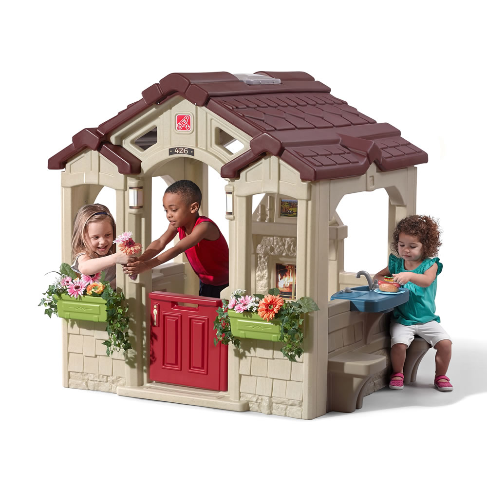 Outdoor Playhouses Toy : Charming cottage kids playhouse step