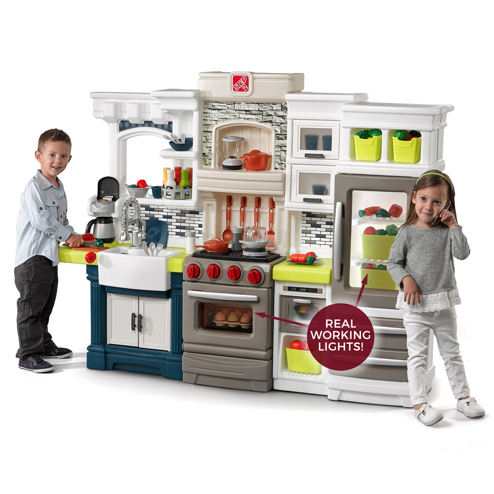 elegant edge kitchen kids play kitchen step2. Black Bedroom Furniture Sets. Home Design Ideas