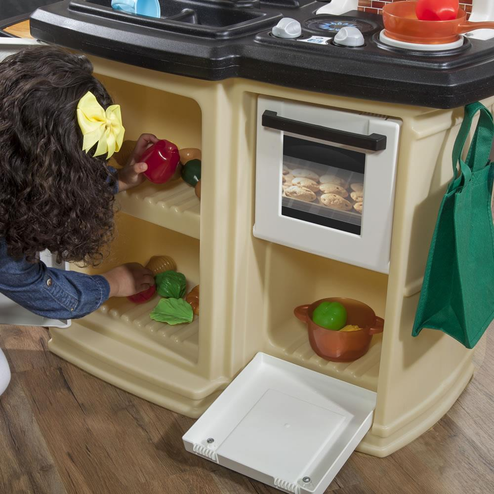 Great Gourmet Kitchen Tan Kids Play Kitchen Step2