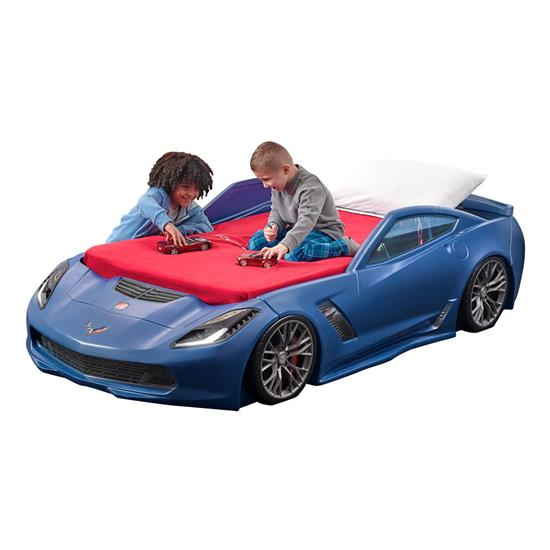 Corvette® Z06 Toddler To Twin Bed - Blue | Kids Bed | Step2