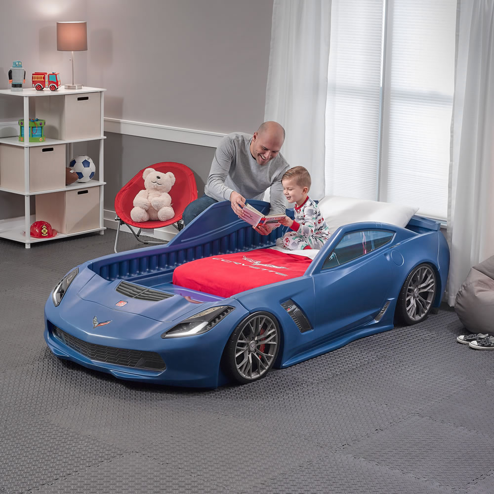 Corvette Bedroom Set Part - 24: Step2 Corvette Z06 Toddler Bed Blue