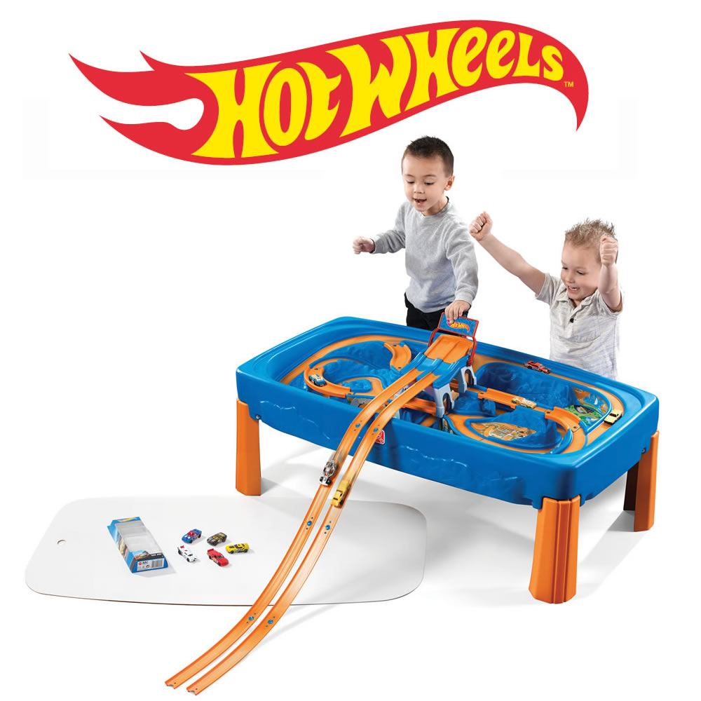 Hot Wheels Toys : Hot wheels car track play table kids pretend step