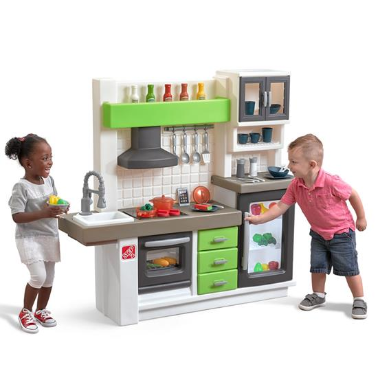 euro edge kitchen  kids play kitchen  step2