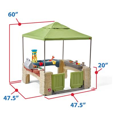 Step2 All Around Playtime Patio with Canopy Outdoor Playhouse for 2 to 8 year old