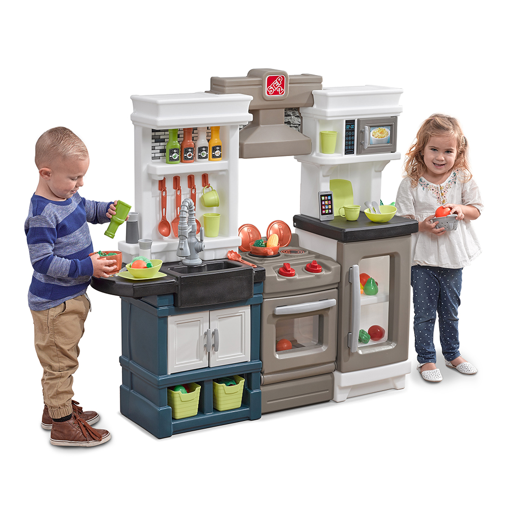 modern metro kitchen kids play kitchen step2. Black Bedroom Furniture Sets. Home Design Ideas