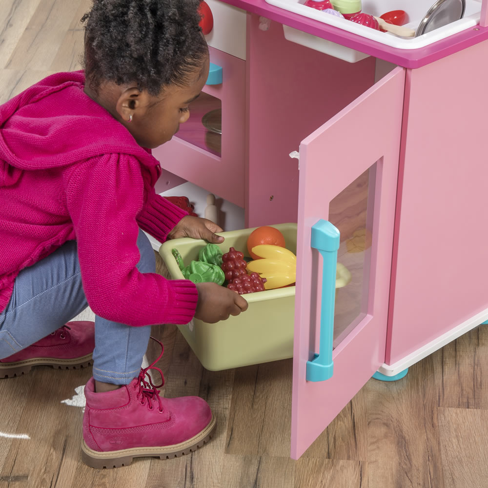 Step2 Midtown Modern Wood Kitchen - Pink storage