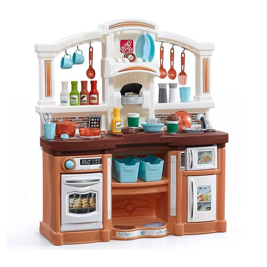Details about Step2 Fun with Friends Kitchen Tan - Kids Play Kitchen