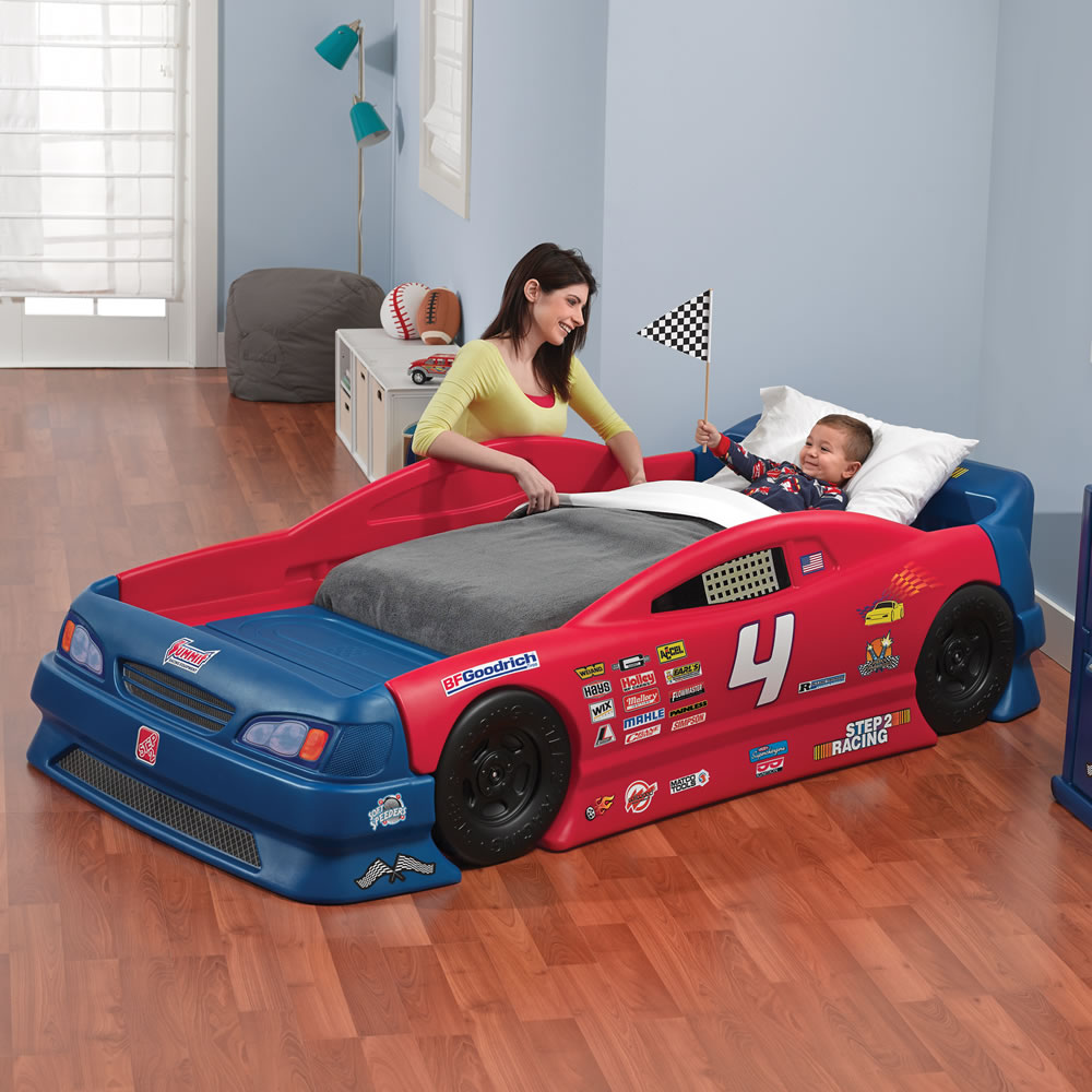 Step2 Stock Car Convertible Bed Toddler Bed