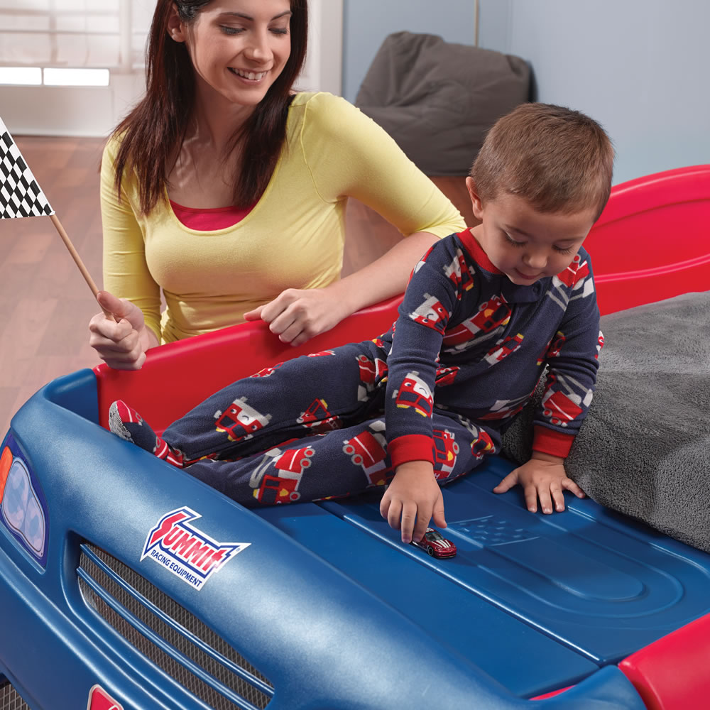 Step2 Stock Car Convertible Bed Kids Bed