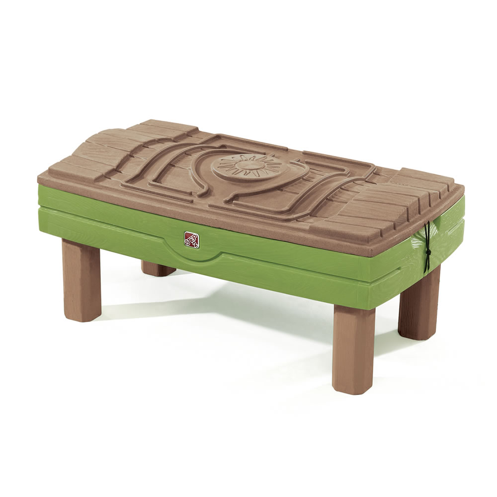 Step2 Naturally Playful Sand & Water Activity Center with lid on