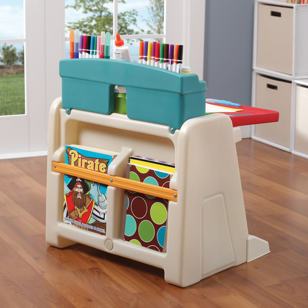 Step2 Flip U0026 Doodle Easel Desk With Stool