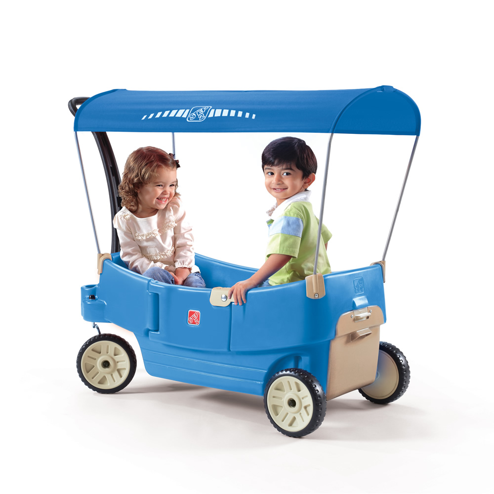 Step2 All Around Canopy Wagon - Blue