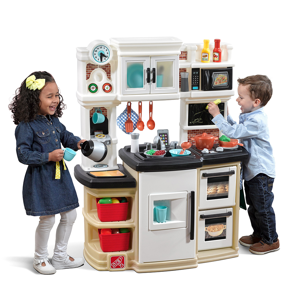 parts for great gourmet kitchen  tan  kids play kitchen