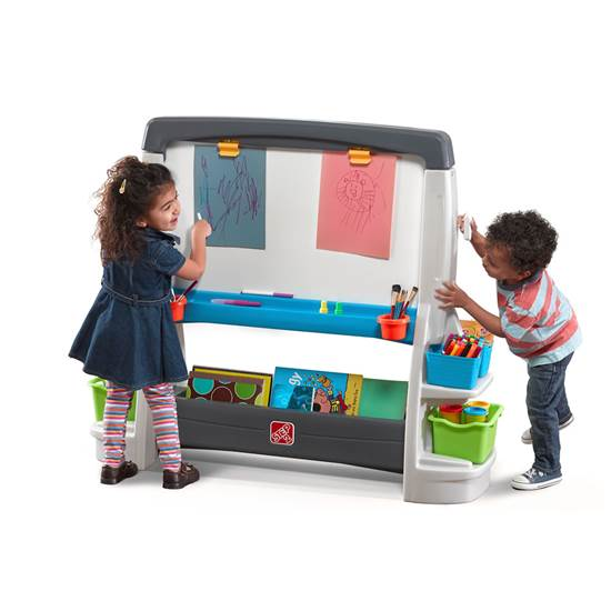 Details About Step2 Jumbo Art Easel Kids Large Easel And Chalkboard